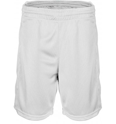 Short de Basket enfant PROACT blanc