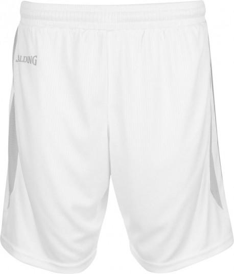 Short 4Her III Spalding blanc/gris
