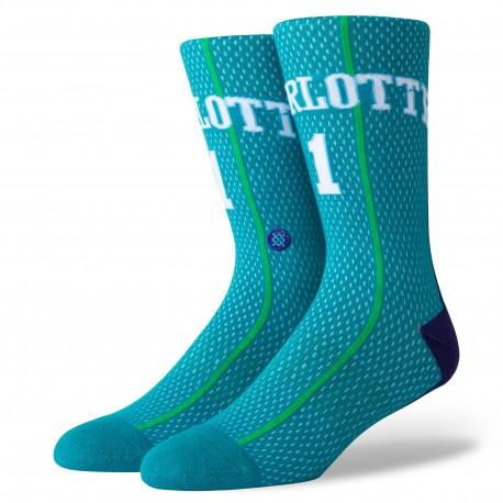 Chaussettes NBA HWC de Muggsy Bogues des Charlotte Hornets