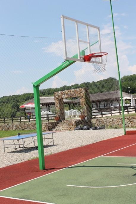 Poteau de basket extérieur Heavy Professional