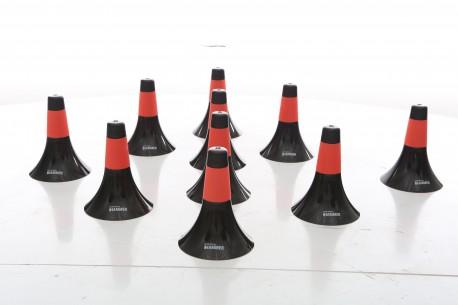 Set de 10 cones d'entrainement basket avec grip