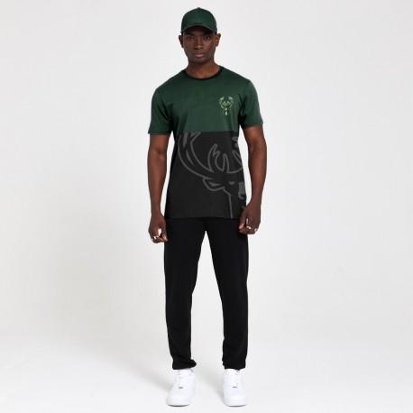 T-shirt NEW ERA Bi color Miwaukee Bucks