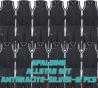 Set complet de jeux de maillot de match Allstar noir/blanc