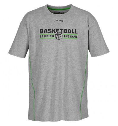T-shirt manches courtes équipe Spalding grey/geen