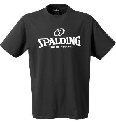 T-shirt manches courtes Logo Spalding noir