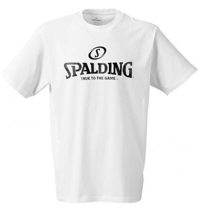 T-shirt manches courtes Logo Spalding blanc
